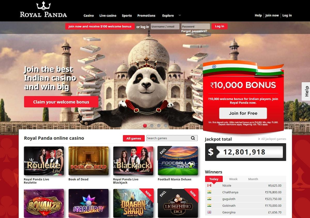 Royal Panda India » Review & Bonus » Up to ₹100000 » Dec 2020